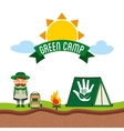 green camp vector image
