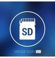 Icon SD card black silhouette symbol vector image