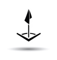 Soccer corner flag icon vector image