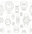 Pattern of watches vector image