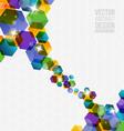 Abstract hexagon design vector image vector image