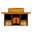 western saloon icon icon cartoon vector image