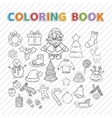 coloring bookWinter set vector image