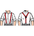 man with suspenders vector image