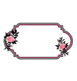 classic hand drawn oval frame with roses vector image
