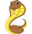 cute cobra snake cartoon vector image