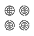 Globe earth icons as a symbol of travelling vector image