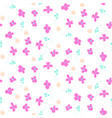 millefleur pink small abstract seamless pattern vector image
