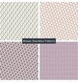 Mosaic colorful seamless patterns vector image