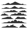 Mountain silhouettes set vector image