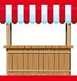 wooden ciosk vector image