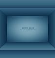 clean empty room in blue color vector image vector image