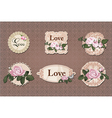 vintage labels collection with roses vector image vector image