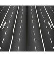Lane road superhighway vector image vector image