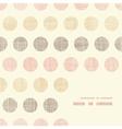 Vintage textile polka dots frame corner pattern vector image