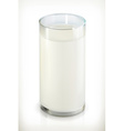 Glass of milk isolated object on white background vector image