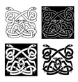 Celtic snakes knot ornaments in tribal style vector image vector image