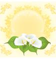 wedding card bouquet vector image vector image