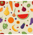 Healthy Food Seamless Pattern with Fruits vector image