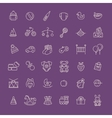 Outline web icon set Baby toys feeding and care vector image