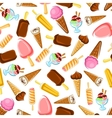 Chocolate and fruity ice cream seamless pattern vector image vector image