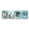 blue paper cut wave shapes layered curve origami vector image
