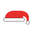 christmas hat isolated icon vector image