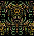 embroidery floral seamless pattern tapestry vector image