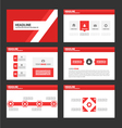 Red presentation templates Infographic elements vector image