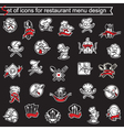 set of icons for restaurant menu design vector image