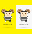 Sheep cute cartoon vector image