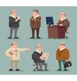 Businessman Big Boss Adult Old Man Character vector image