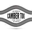 Camber and toe-car service vector image