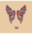 Bull terrier head Polygon dog face vector image