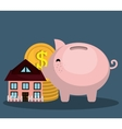 Bank and money investment vector image