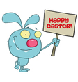 Grinning Blue Rabbit vector image vector image
