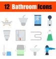 Flat design bathroom icon set vector image