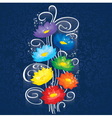 Glowing Chakras lotuses vector image