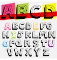 abc 3d vector image