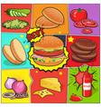burger comic book page vector image