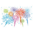Colorful fireworks isolated on white background vector image