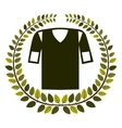 crown of leaves with shirt american football vector image
