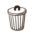 Outdoor trash bin symbol vector image