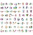 Set of geometric design arrow icons vector image