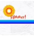 Sun wave illlustration vector image
