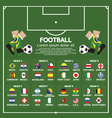 2014 Football Tournament Chart vector image