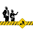 construction silhouettes vector image vector image