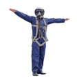 Man dressed a pilot on a white background vector image