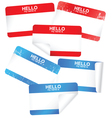 set of blank adhesive name badges vector image