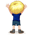 Back of a little boy with blond hair vector image